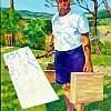 schilder onderweg
