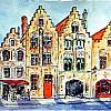 Huisjes op Jan Van Eyckplein (Brugge)